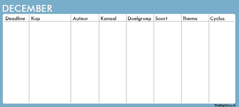 contentkalender template