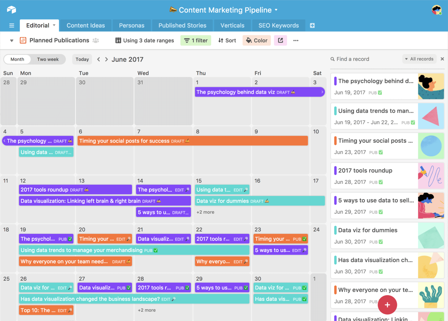 contentkalenders airtable calendar view