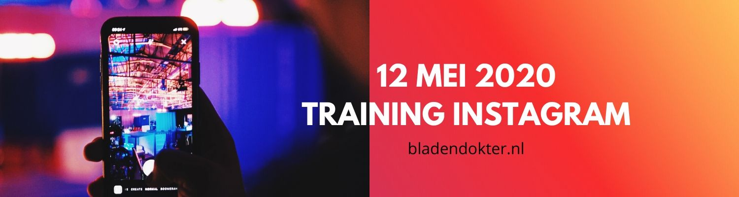 Bladendokter training instagram - 12 mei 2020